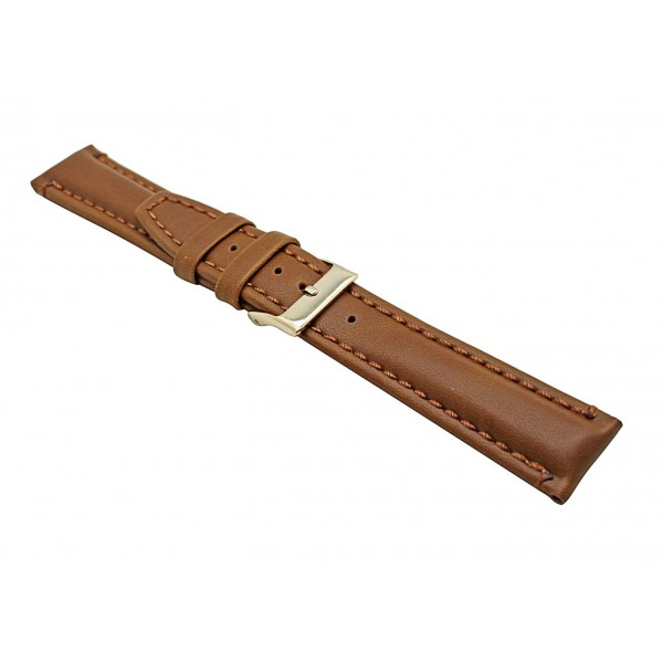 Real Brown Oily Leather Strap With Gold Buckle