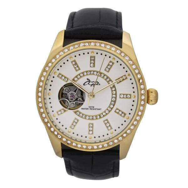 Eternity gold case white dial black strap