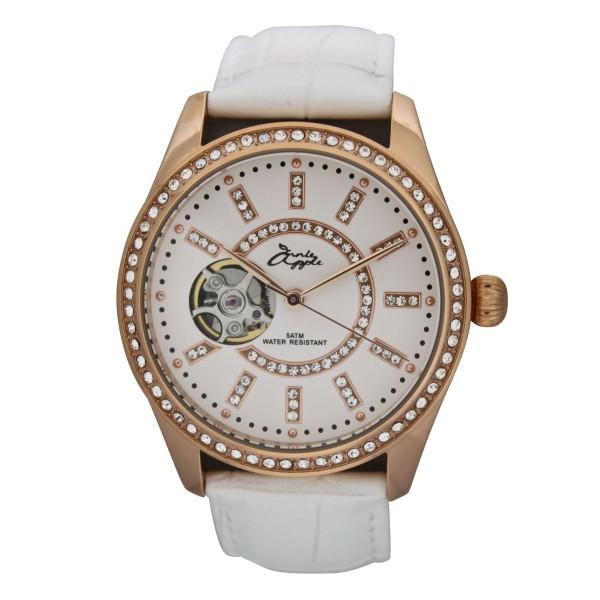 Eternity rose gold case white dial white strap