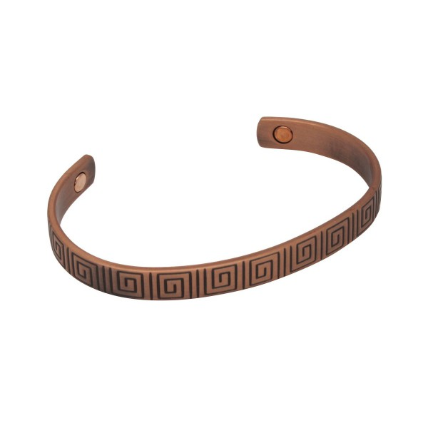 BER006 - Unisex Magnetic Copper Bangle Cuff Bracelet
