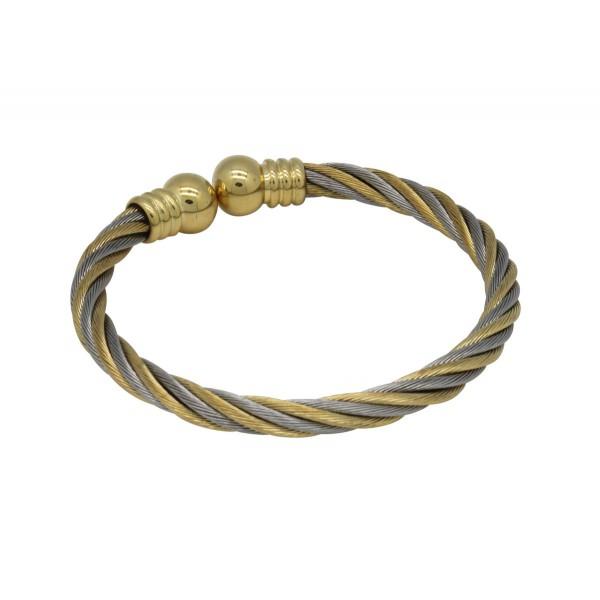 BER010 - Unisex Magnetic Copper Bangle Cuff Bracelet