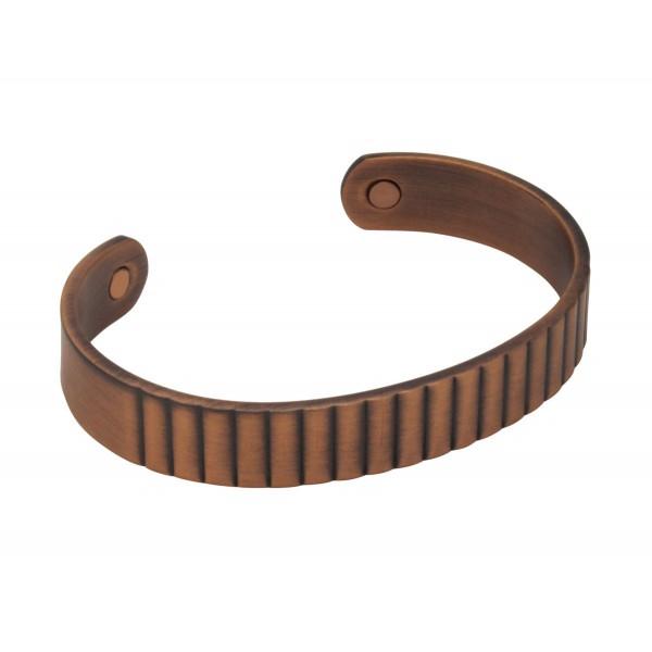 BER012 - Unisex Magnetic Copper Bangle Cuff Bracelet