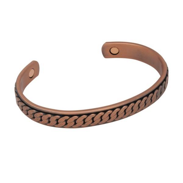 BER013 - Unisex Magnetic Copper Bangle Cuff Bracelet