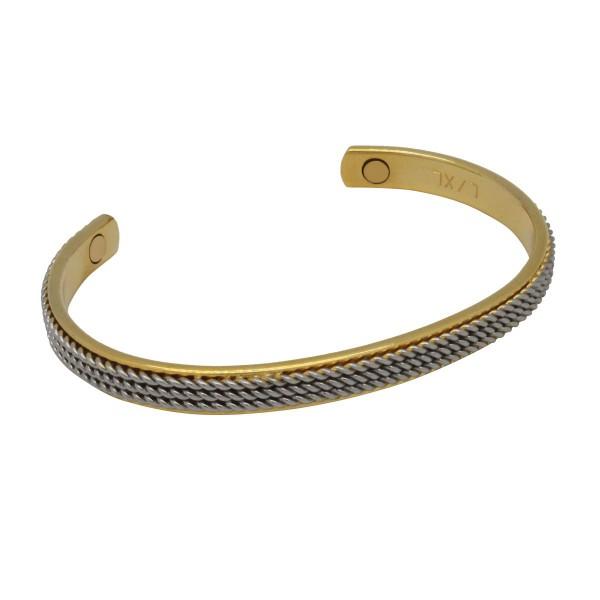 BER016 - Unisex Magnetic Copper Bangle Cuff Bracelet