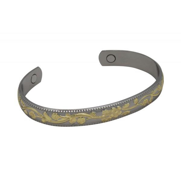 BER017 - Unisex Magnetic Copper Bangle Cuff Bracelet