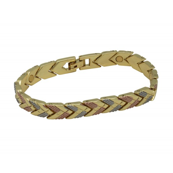 BER019 - Unisex Magnetic Bangle Cuff Bracelet
