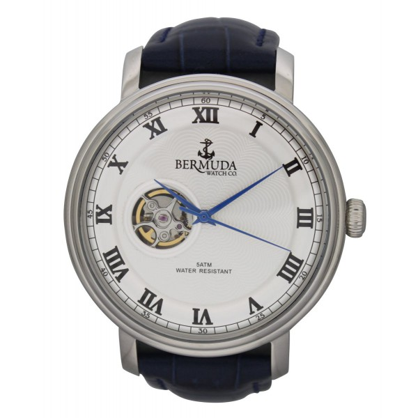 Paget silver dial blue strap