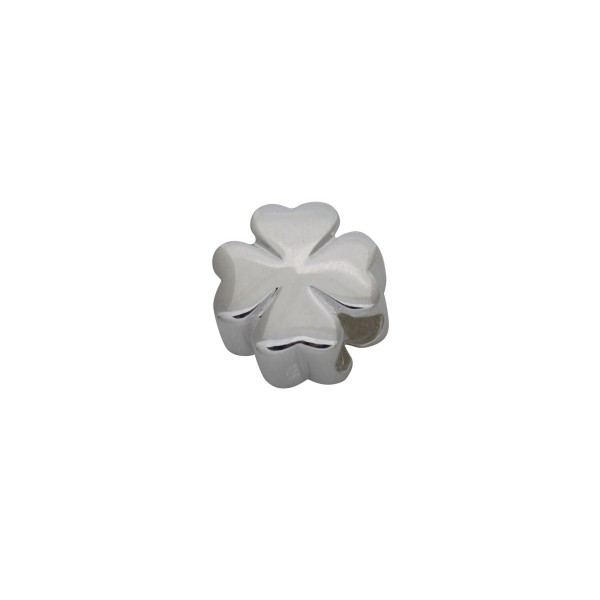 SCH006 - 2.1 Gram Solid 925 Sterling Silver Lucky Four Leaf Clover Charm Pendant