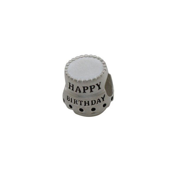 SCH010 - 3 Grams Solid 925 Sterling Silver Happy Birthday Present Gift Charm Pendant