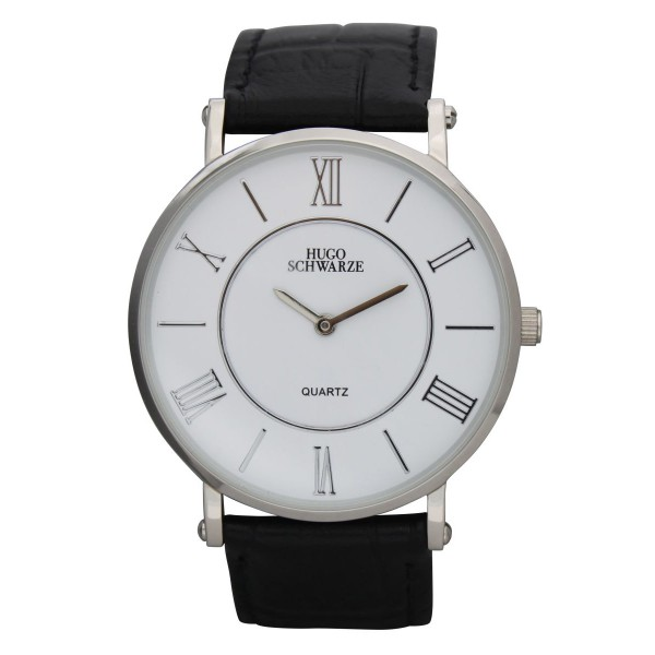Kendall silver and white with black strap
