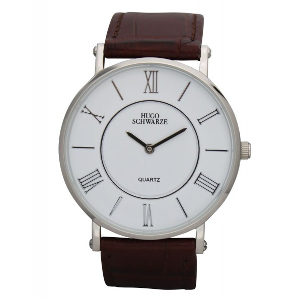 Kendall silver and white with brown strap