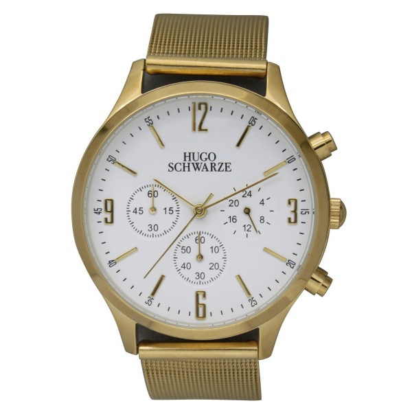 Leo gold and white with mesh strap
