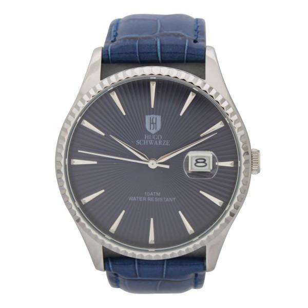 Jaxon silver case blue dial blue strap
