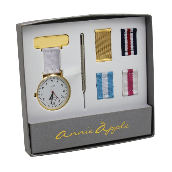 Gold Interchangable Nurses Fob Watch